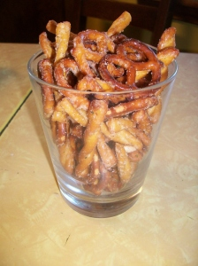 spicy pretzels